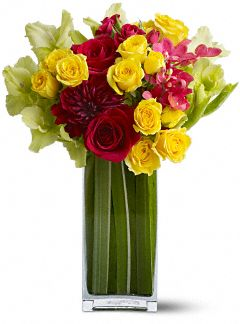 Teleflora's Island Blooms Flowers, Teleflora's Island Blooms Flower Bouquet - Teleflora.com :  pink island red tropical