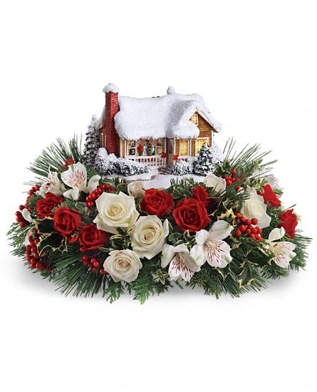 Floral Centerpiece - Thomas Kinkades Childhood Home by Teleflora