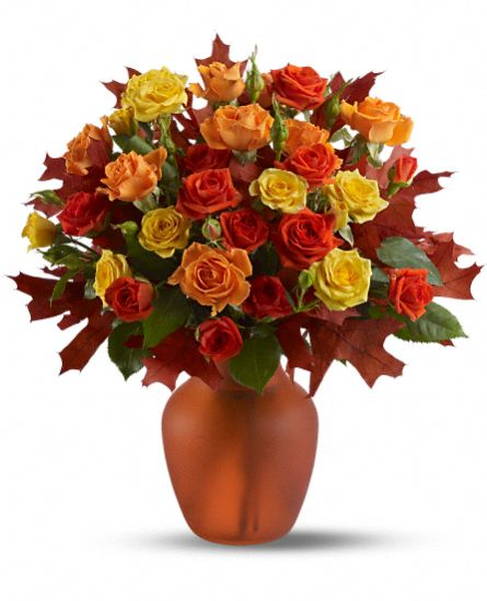 Amber Roses Flower Arrangement