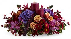 Merlot by Candlelight Flower Bouquet
