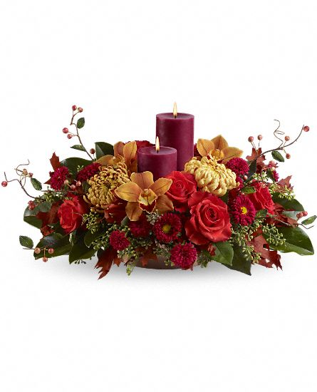 Thanksgiving Floral Centerpiece - Warm and Wonderous