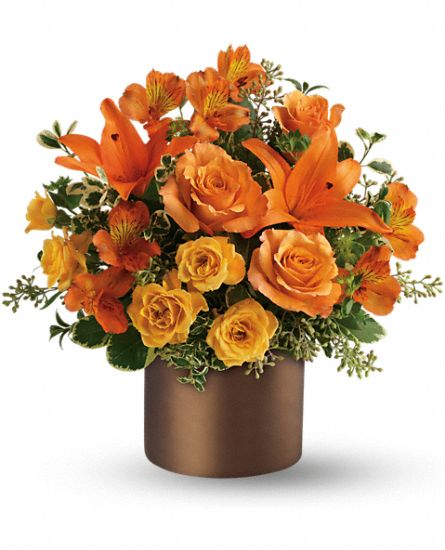Sunset Glow Flower Bouquet by Teleflora