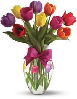 Teleflora's Spring Tulips Bouquet Flowers, Teleflora's Spring Tulips Flower Bouquet - Teleflora.com