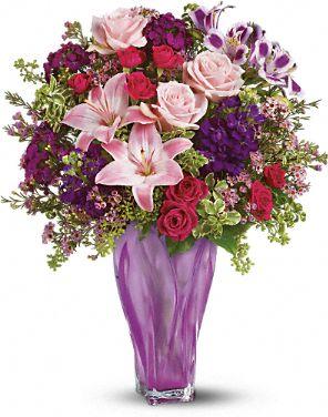 Teleflora's Lavender Elegance Bouquet Flowers, Teleflora's Lavender Elegance Flower Bouquet - Teleflora.com :  pink bouquet roses gift