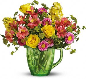 Teleflora's Spring Pitcher Bouquet Flowers, Teleflora's Spring Pitcher Flower Bouquet - Teleflora.com :  spring yellow pitcher bouquet