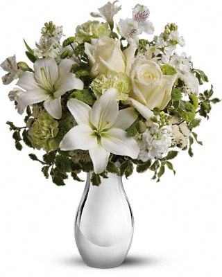 Teleflora's Silver Reflections Bouquet Flowers, Teleflora's Silver Reflections Flower Bouquet - Teleflora.com :  telefloras silver reflections bouquet flower arrangement lily roses bouquet