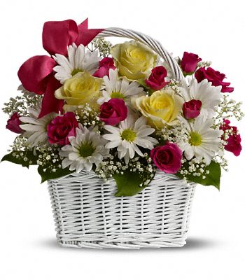 Daisy Dreams Basket Flowers