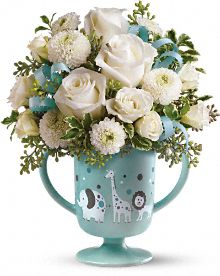 MiGi's Baby Circus Bouquet by Teleflora - Blue Flowers, MiGi's Baby Circus Bouquet by Teleflora - Blue Flower Bouquet - Teleflora.com