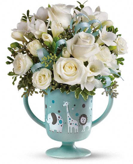 MiGi's Baby Circus Bouquet by Teleflora - Blue Flowers