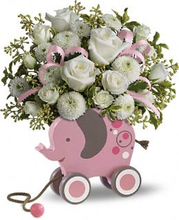 MiGi's Pink Baby Elephant Bouquet by Teleflora