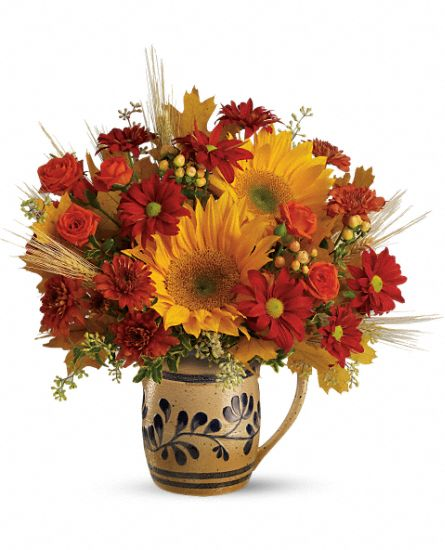 WILLIAMSBURG Salt-Glaze Pitcher Bouquet by Teleflora