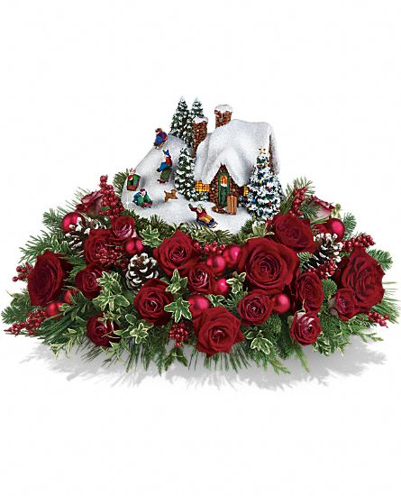 Thomas Kinkade's Sleigh Ride Bouquet by Teleflora Flowers