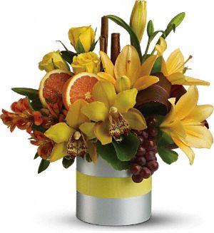 Teleflora's Top Chef Citrus Flowers, Teleflora's Top Chef Citrus Flower Bouquet - Teleflora.com