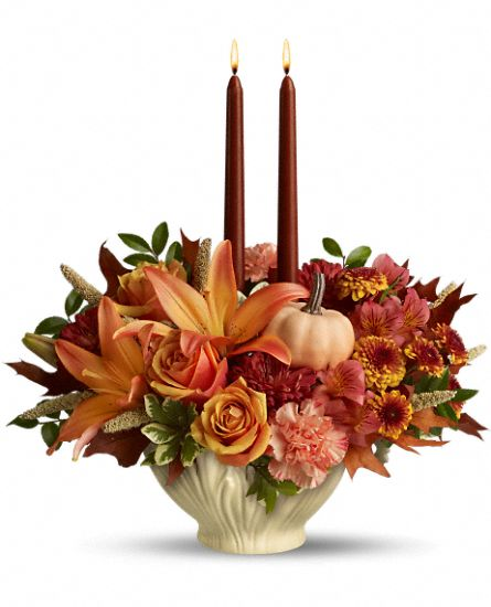 Lenox Gift of Autumn by Teleflora Flowers