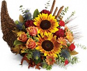 A Thanksgiving Cornucopia From Teleflora Brings The Harvest To Your Table