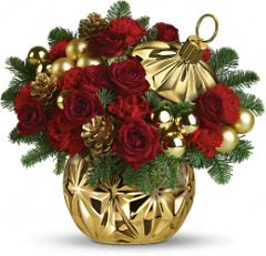 Teleflora's Have a Ball Bouquet in Red - Teleflora.com from teleflora.com