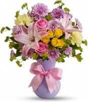 Teleflora's Perfectly Pastel with Pink Roses Flowers