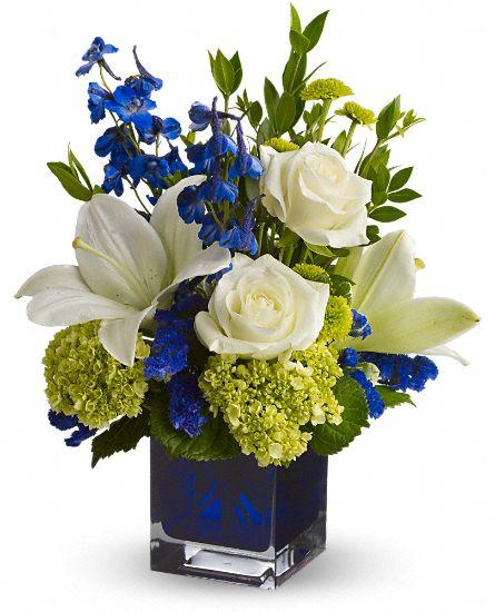Serenade In Blue Flowers