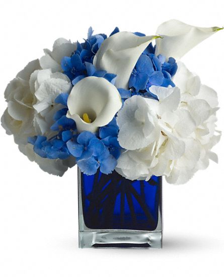 Teleflora's Waves of Blue Flowers