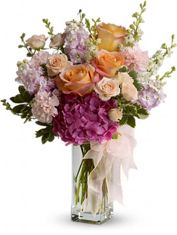Mother's Favorite by Teleflora :  pink teleflora bouquet peach