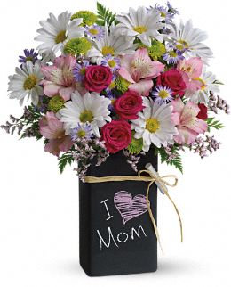 Teleflora's Chalk It Up Bouquet :  mothers day flowers lilies florist teleflora