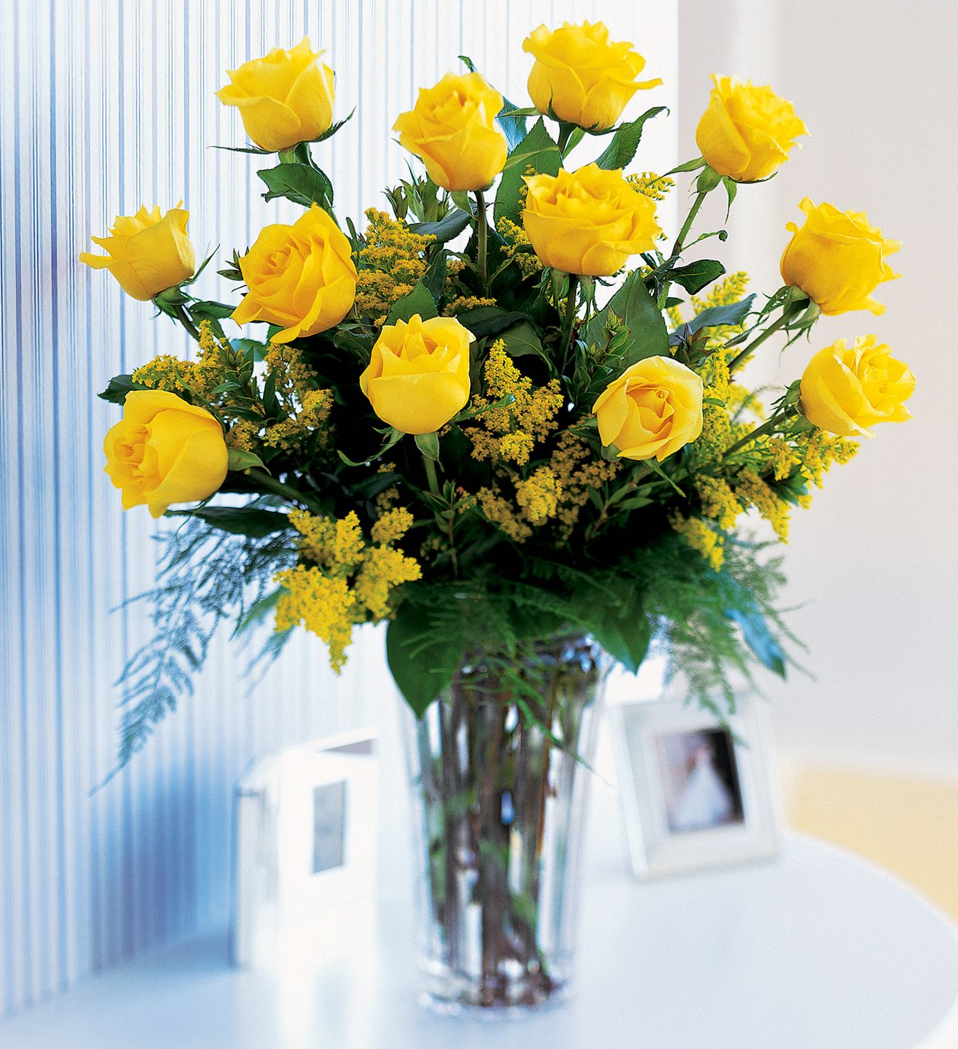 Hunt Valley Florals & Gifts, Hunt Valley, Maryland - A Dozen Yellow Roses, picture