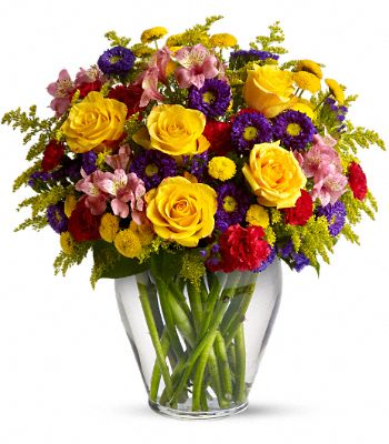Roses, Alstroemeria, Asters, Carnations and Chrysanthemums