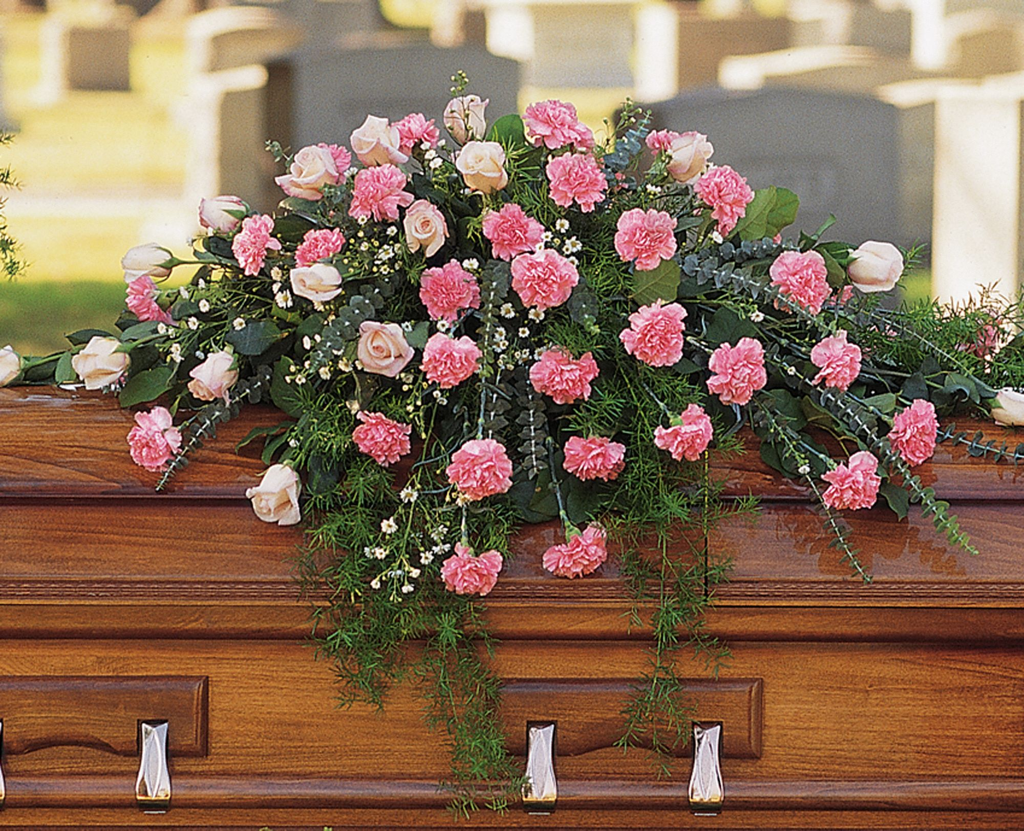 Heavenly Pink Casket Spray