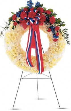 Patriotic Spirit Wreath Flowers