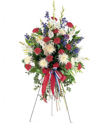 Patriotic Spirit Spray Flowers