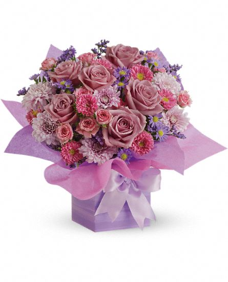 Teleflora's Perfectly Purple Present Flowers