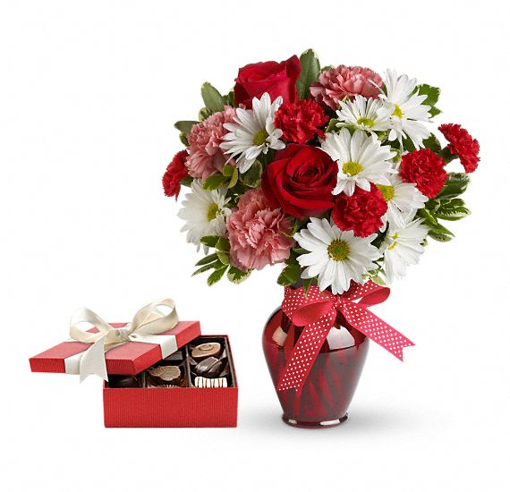 Hugs and Kisses Gift Set Flowers