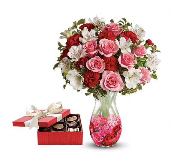 Rosy Posy Gift Set 1 Flowers