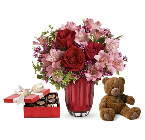 Heart�s Treasure Gift Set 2 Flowers