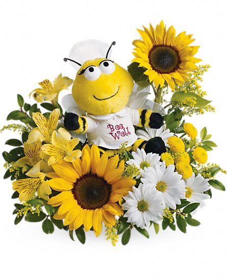 Teleflora's Bee Well Bouquet Flowers