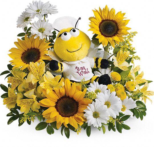 Teleflora's Bee Well Bouquet Flowers