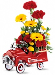 Teleflora's Fire Engine Bouquet Flowers