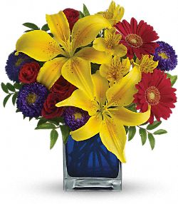Blue Caribbean Flowers