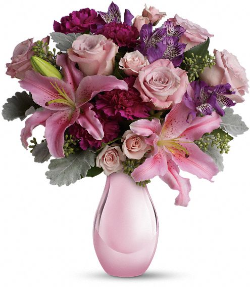 Enchanting Pinks by Teleflora Flowers
