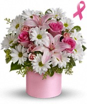 Teleflora's Pink Hope and Courage Bouquet Flowers