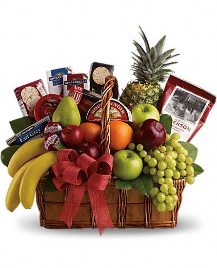 Flower And Gift Baskets For Delivery : Bon vivant gourmet gift basket