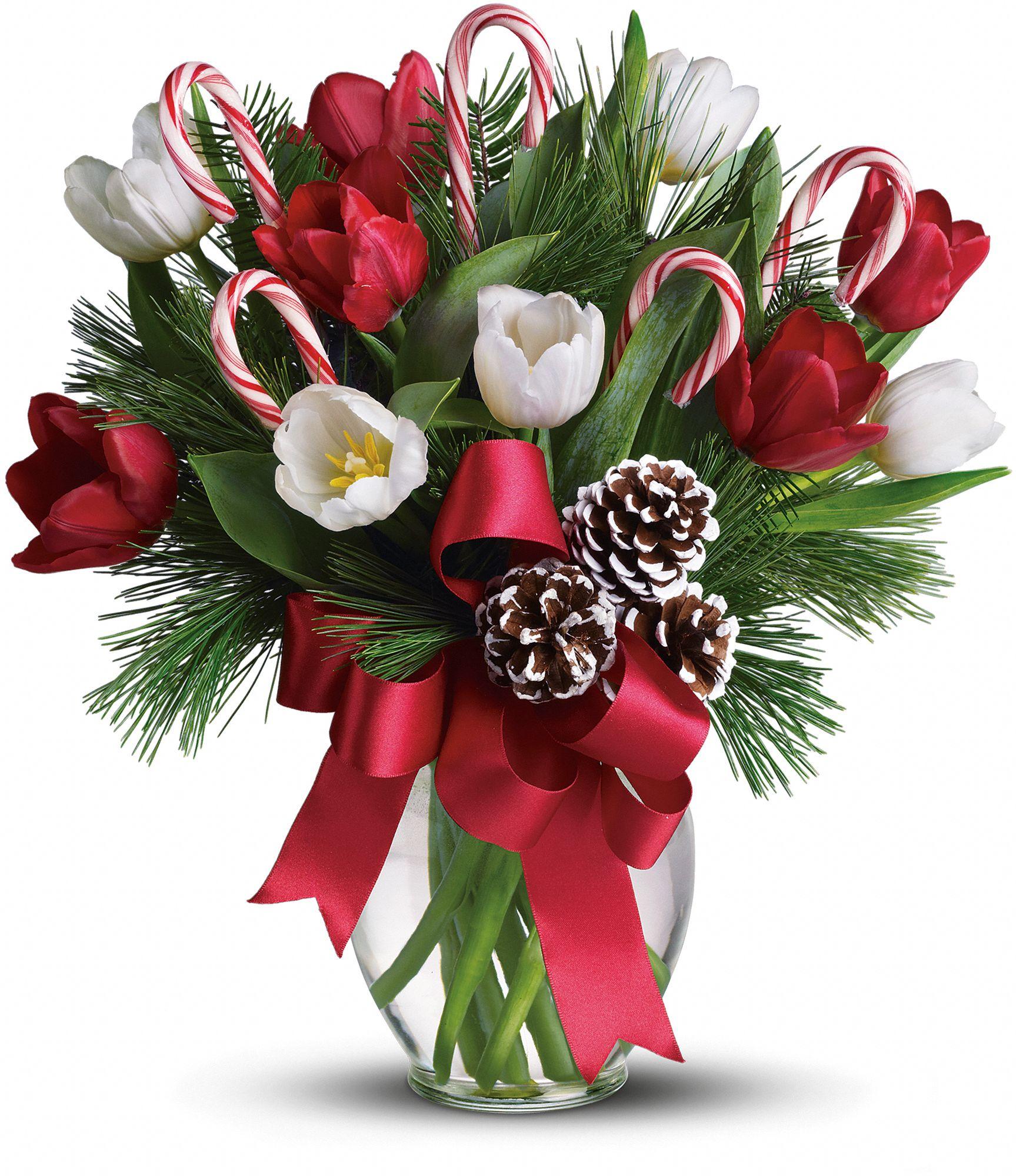 Красивые новогодние букеты из цветов фото