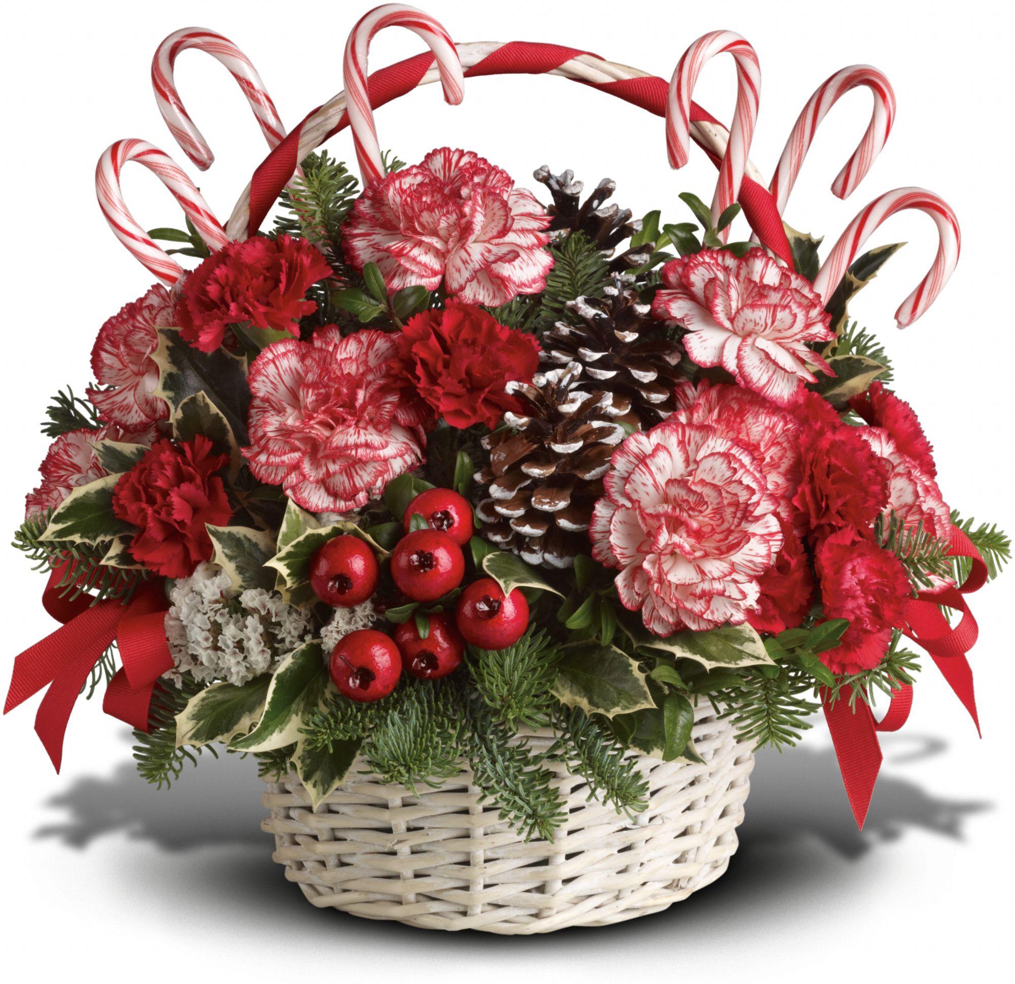 Candy Cane Christmas Gift Basket