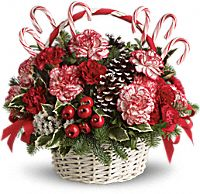 Candy Cane Christmas Gift Basket