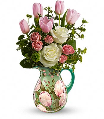 Teleflora's Spring Pitcher Bouquet Flowers
