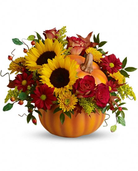 Teleflora's Pretty Pumpkin Bouquet Flowers