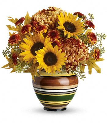 Teleflora's Harvest Stripes Bouquet Flowers