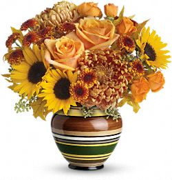 Teleflora's Harvest Stripes Bouquet DX Flowers
