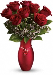 Teleflora's All My Heart Bouquet - Red Roses Flowers