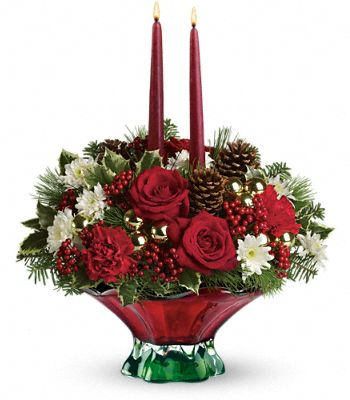 Teleflora's Always Merry Centerpiece Flowers